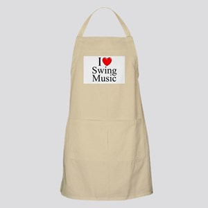 """I Love (Heart) Swing Music"" BBQ Apron"