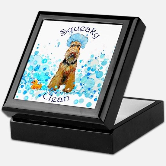 Welsh Terrier Bubble Bath Keepsake Box