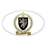 FRIOLET Family Crest Oval Sticker