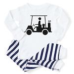 Golf Cart Icon Toddler Pajamas