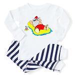 Sunbathing Santa Toddler Pajamas