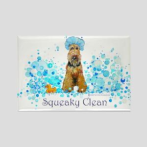 Welsh Terrier Bubble Bath Rectangle Magnet