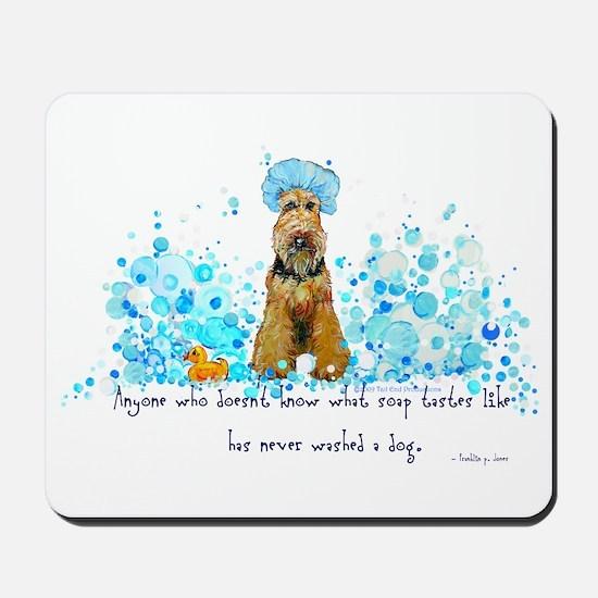 Welsh Terrier Bubble Bath Mousepad