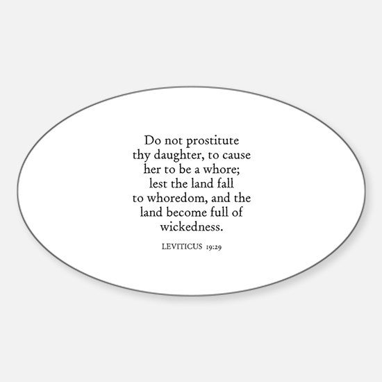 LEVITICUS 19:29 Oval Decal