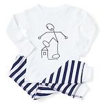 Angry Stickman Toddler Pajamas