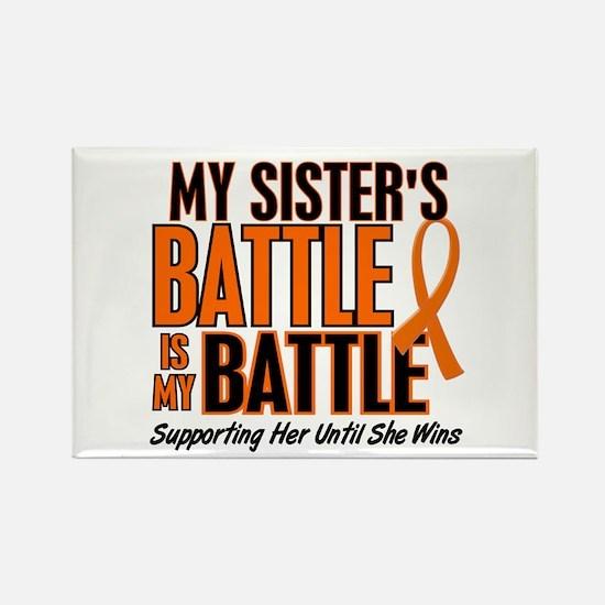 My Battle Too (Sister) Orange Rectangle Magnet