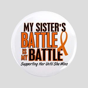 "My Battle Too (Sister) Orange 3.5"" Button"