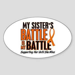 My Battle Too (Sister) Orange Oval Sticker