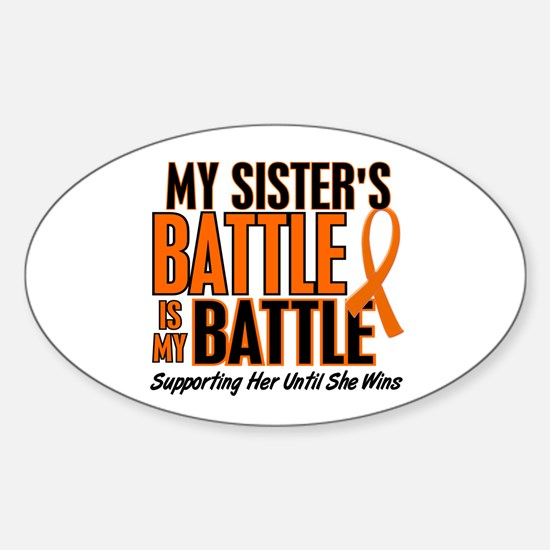 My Battle Too (Sister) Orange Oval Decal