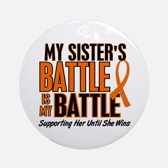 My Battle Too (Sister) Orange Ornament (Round)