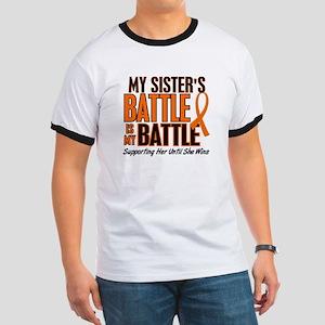 My Battle Too (Sister) Orange Ringer T