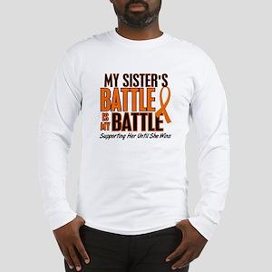 My Battle Too (Sister) Orange Long Sleeve T-Shirt