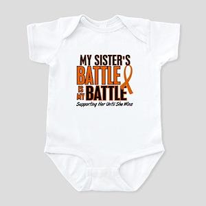 My Battle Too (Sister) Orange Infant Bodysuit