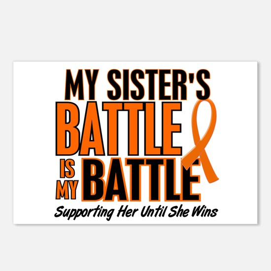 My Battle Too (Sister) Orange Postcards (Package o