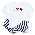 I Heart Cane Corso Toddler Pajamas