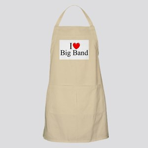 """I Love (Heart) Big Band"" BBQ Apron"