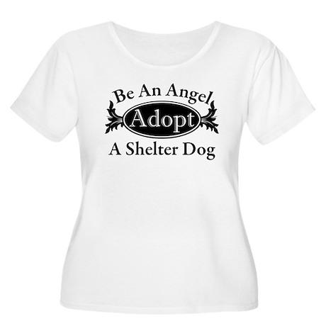 Dog Adoption Women's Plus Size Scoop Neck T-Shirt