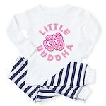 Little Buddha Yoga Symbol Baby T Shirts Pink