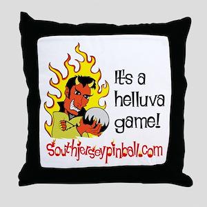 South Jersey Pinball Throw Pillow