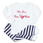 Two Cute  Toddler Pajamas (Pink/Red)