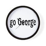 go George Wall Clock