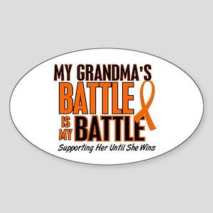 My Battle Too (Grandma) Oval Sticker
