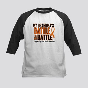 My Battle Too (Grandma) Kids Baseball Jersey