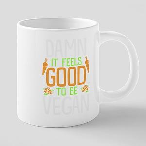 Vegan Shirt Feels Good Vegan Vegetarian Gift Mugs