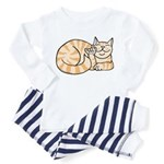 OrangeTabby ASL Kitty Toddler Pajamas
