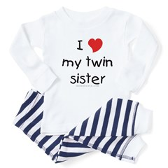 I love my twin sister Toddler Pajamas