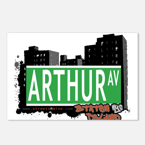 ARTHUR AVENUE, STATEN ISLAND, NYC Postcards (Packa
