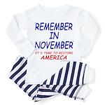 Remember November Toddler Pajamas