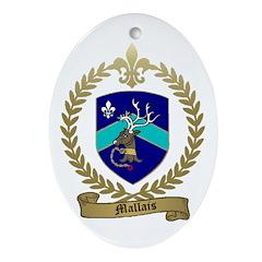 MALLAIS Family Crest Oval Ornament
