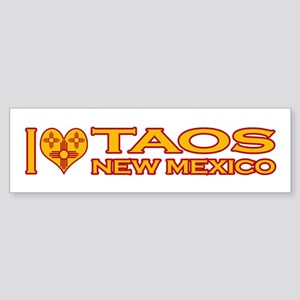 I Love Taos, NM Bumper Sticker