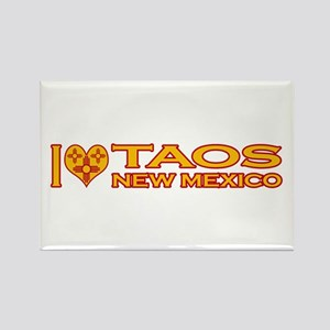 I Love Taos, NM Rectangle Magnet