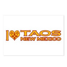 I Love Taos, NM Postcards (Package of 8)