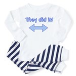 they did it (left & right arrow) Toddler T-