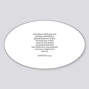 LEVITICUS 19:23 Oval Sticker
