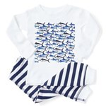 School of Marlin and a Swordfish Toddler Pajamas