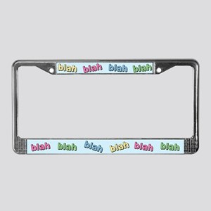 Blah Blah License Plate Frame
