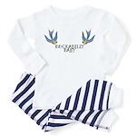 Rockabilly Baby w/ Swallows Toddler Pajamas