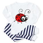 Cute Ladybug Toddler Pajamas