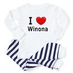 I Love Winona Toddler Pajamas