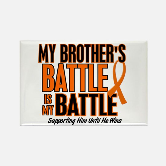 My Battle Too (Brother) Orange Rectangle Magnet