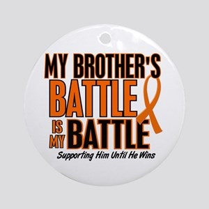 My Battle Too (Brother) Orange Ornament (Round)