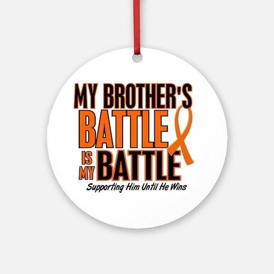 My Battle Too (Brother) Orange Ornament (Round)