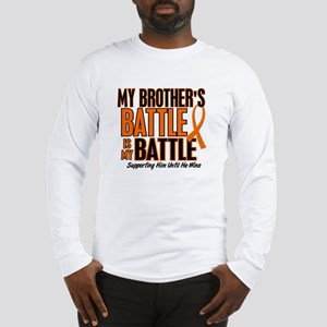 My Battle Too (Brother) Orange Long Sleeve T-Shirt