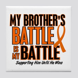 My Battle Too (Brother) Orange Tile Coaster