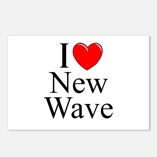 """""""I Love (Heart) New Wave"""" Postcards (Package of 8)"""