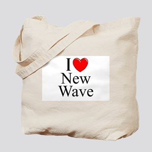 """I Love (Heart) New Wave"" Tote Bag"